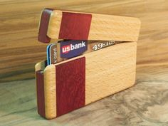 Wood Wallet by Perfect45Degree on Etsy, $90.00
