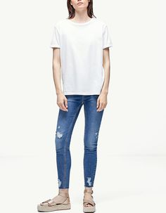 Camiseta relaxed fit - Camisetas | Stradivarius Colombia