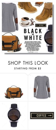 """""""Black vs White"""" by fashion-pol ❤ liked on Polyvore featuring Spicher and Company"""