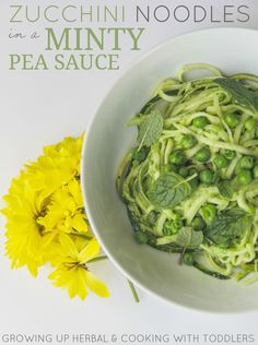 Looking For Healthy Green Foods For St. Patrick's Day? How About Some Zucchini Noodles in a Minty Pea Sauce
