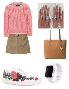 """""""Untitled #32"""" by gabriela-agredo on Polyvore featuring Hollister Co., Ralph Lauren, Gucci, Michael Kors and Apple"""
