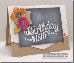 Birthday Chalkboard Greetings, Darling Dots, Happy Birthday Background, Mix and Match Banners Die-namics, Pretty Posies Die-namics, Rose Bouquet Die-namics, Diagonal Stripes Stencil - Barbara Anders #mftstamps