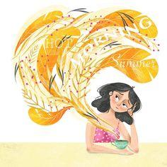 Children's books Illustrator в Instagram: «Not a fan of hot weather 😅are you? Сразу видно какой я фанат жары 🙈😀 а какой сезон ваш любимый? Мой- осень…» Dear Friend, Disney Characters, Fictional Characters, Disney Princess, My Love, Illustration, Illustrations, Fantasy Characters, Disney Princesses