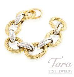 Link Bracelet in 14k Two Tone Gold, 8