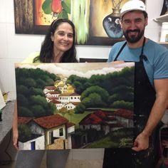 Retorno a pintura em tela, com o professor Fábio Souza - 2015