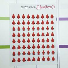 New to JLynnPaperCo on Etsy: 72 Kawaii Period Tracker Stickers Blood Kawaii Cute Stickers Planner Stickers Pretty  Erin Condren ECLP (2.00 USD)