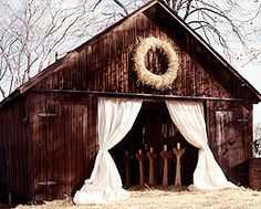 Barn door...LOVE this for shabby chic wedding....will def use this at first opp!