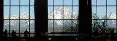 Stunning view of the Tetons from the lobby of the amazing Jackson Lake Lodge.