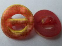 13 Knöpfe gelb rot 16mm (5990-2)Blusenknöpfe Knopf