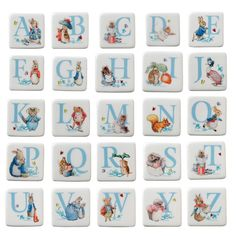 BEATRIX POTTER PETER RABBIT & FRIENDS BORDER FINE ARTS *ALPHABET LETTER MAGNETS* | Collectables, Decorative Ornaments & Plates, Border Fine Arts | eBay!
