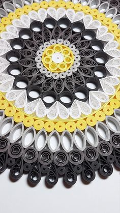 Framed paper quilling Mandalas by MandalaBorealis Paper Quilling Cards, Arte Quilling, Paper Quilling Patterns, Paper Quilling Jewelry, Quilling Craft, Rolled Paper Art, Dollar Tree Crafts, Kirigami, Paper Cutting