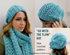 Go with the Flow Hat - Free Crochet Pattern | My hobby is crochet | Bloglovin'