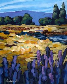 Fall Creek by Shelli Walters | acrylic painting | Ugallery Online Art Gallery