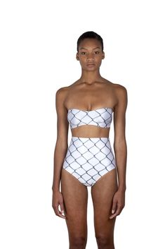 Minnow Bathers Burney High-Waisted Bottoms (Chain Link) on Garmentory Human Rights Organizations, Bikinis, Swimwear, One Piece, Legs, Suits, Black, Chain, Style
