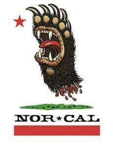 Jim Phillips - Screaming Bear Skateboard Logo, Old School Skateboards, Grunge, Weed Art, Lion Logo, Skate Art, Bear Paws, Surf Art, Lion Tattoo