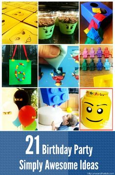 Find 21 of the latest Lego Birthday Party Ideas that are Inspirational, cost effective. Home made ideas will covering everything you need for a great party.