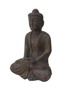 This sitting sakyamuni Buddha statue is made of solid stone and hand carved in a round.     It is a nice prayer's item and also good to put in garden for decoration.