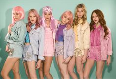Candy color retro denim at The Ragged Priest....love!