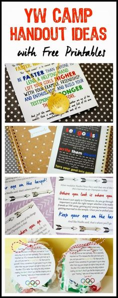 Tons of cute girls camp pillow treats and free printable handout ideas from playpartypin.com