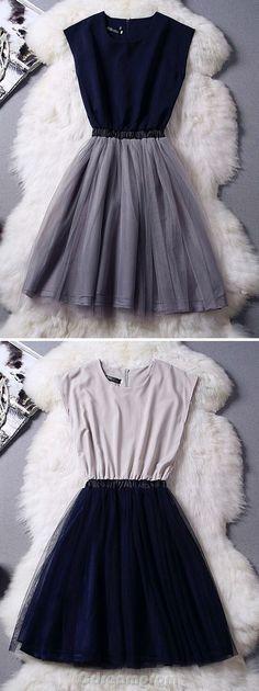 Two-Tone Mesh Paneled Midi Dress - OASAP.com
