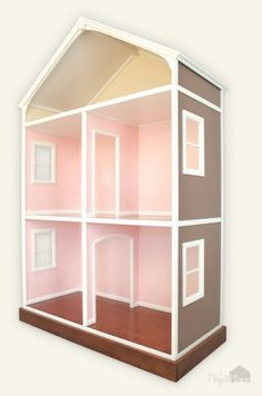 Doll House. Can't wait to give my favorite girl a custom dollhouse!!!