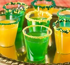 """Candy is dandy but liquor is quicker."" To make Green Bay Packers Candy Vodka Shots #nflfanstyle # contest"