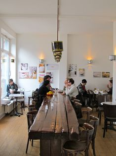 Another example of a large communal table being used by a smaller crowd. Is…