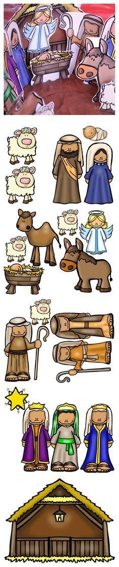 Nativity Set For Playdough Base