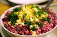 Swedish herring salad