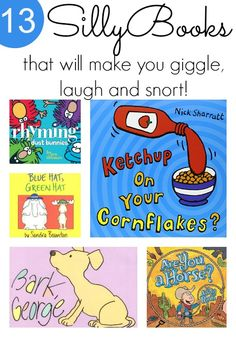 Silly Books for Kids Silly books for kids that will make your kids giggle! Super funny titles on this book list.Silly books for kids that will make your kids giggle! Super funny titles on this book list. Good Books, Books To Read, My Books, Preschool Books, Book Activities, Preschool Library, Preschool Bulletin, Preschool Age, Preschool Crafts