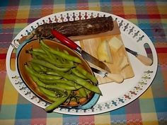 "Formaggio, Salame, and Bocelli - really big and awesome green beans! Nothing says Springtime in Italy like Bocelli - well, maybe ""Primavera"" says it too. ;)"