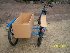 Bicycles Modified: Long Tail Cargo Bike with Sidecar