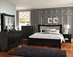 Standard Furniture Memphis Sleigh Bedroom Set in Black Paint Sleigh Bedroom Set, King Bedroom Sets, Queen Bedroom, Bedroom Furniture Sets, Home Decor Bedroom, Furniture Stores, Bedroom Kids, Furniture Usa, Furniture Cleaning