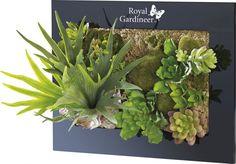 Tableau végétal avec plantes artificielles, position horizontale ou verticale | Pearl.fr