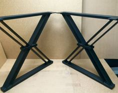 FREE SHIPPING: SET of 4 Steel I-beam table by TimberForgeWoodworks