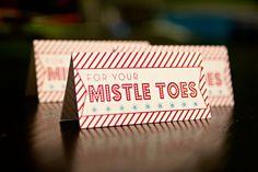 Mistle toes free printable DIY Christmas gift