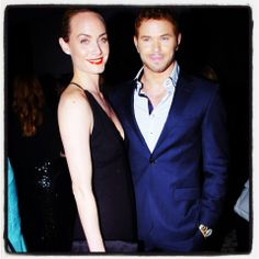 @Amber Valletta and @kellan lutz at the 5th anniversary of Suzy's global sustainable design campaign party on February 27th, 2014 at Palihouse West Hollywood - Photo by Milla Cochran www.theroseweddings.com