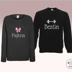 Bluzy dla pary.  Prezent na walentynki! Valentines gift for couple. Piękna i bestia DDshirt