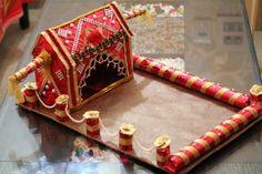 Ideas For Wedding Gifts Indian Beautiful Indian Wedding Gifts, Diy Wedding Gifts, Indian Wedding Decorations, Wedding Crafts, Wedding Ideas, House Decorations, Indian Weddings, Wedding Things, Diy Gifts
