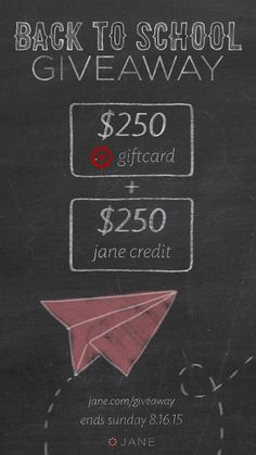 I entered the @veryjane #Giveaway for a chance to win $250 Jane Credit + $250 Target Gift Card!!