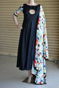 Visit our website www.threadslabel.com Anarkali Dress, Pakistani Dresses, Indian Dresses, Anarkali Suits, Designer Punjabi Suits, Indian Designer Wear, All Black Dresses, Pretty Dresses, Salwar Designs