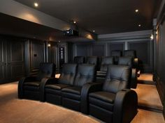 home theater rooms & home theater ideas ; home theater rooms ; home theater ; home theater design ; home theater seating ; home theater ideas on a budget ; home theater ideas basement ; home theater decor