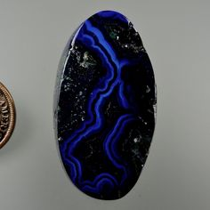 Azurite Banded Bisbee 100% Natural Hand Cut by 49erMinerals