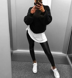 beautiful autumn outfits - find the most beautiful outfits for your autumn look . - beautiful autumn outfits – find the most beautiful outfits for your autumn look. Street Style Outfits, Edgy Outfits, Sport Outfits, Trendy Black Outfits, Woman Outfits, Winter Mode Outfits, Winter Fashion Outfits, Fall Outfits, Autumn Outfits Women
