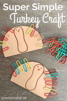 Thanksgiving Activities for Preschoolers: Paperclip Turkeys! - The Inspired Treehouse