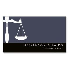 Justice Scale Attorney  at Law Groupon Business Cards