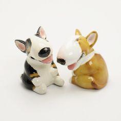 Bull Terrier Dog Lover Figurine Pet Memorial Gift Ceramic Paint 00004