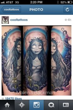 Wonderful Corpse Bride tattoo.