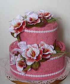 Unique Towel Cakes | 21 Unusual Homemade Mothers Day Gift Ideas, Amazing Towel Cakes