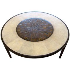 A Circular Cocktail Table by R & Y Augousti | From a unique collection of antique and modern coffee and cocktail tables at http://www.1stdibs.com/furniture/tables/coffee-tables-cocktail-tables/